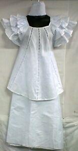 bianco abbigliam broccato in bianco con Gonna vxqEFgfwaw