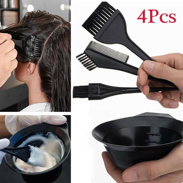 4Pcs/Set Hair Colouring Brush And Bowl Set Bleaching Dye Kit Beauty Comb Tint