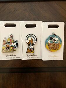 Disney-Mickey-Mouse-90th-Birthday-Party-Set-Of-3-Pins-NEW