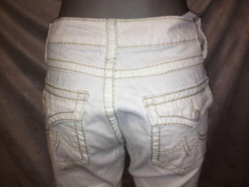 42 weiß mit dicken Nähten Ziernähten Damen Jeans Hose Gr