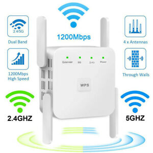 WiFi-Range-Extender-Signal-Booster-1200Mbps-Wireless-Network-Repeater-Dual-Band