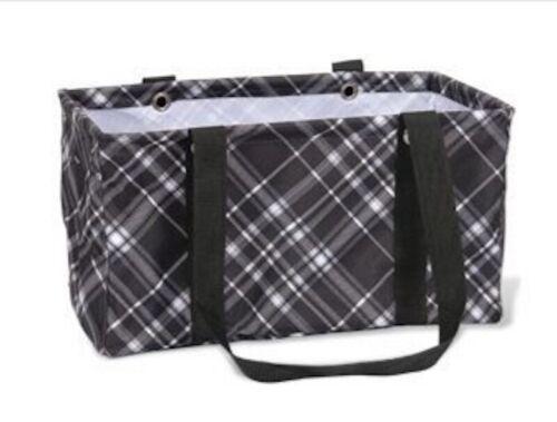Thirty One MEDIUM UTILITY tote storage beach laundry Bag 31 Gift Pick me plaid