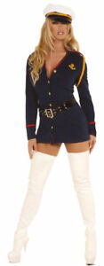 Morris-Costumes-Women-039-s-Sexy-Military-Gentlemans-Officer-Costume-S-M-MO9565SD