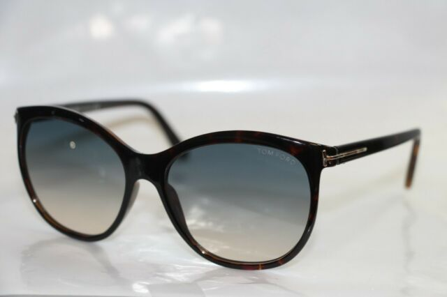 e7cb4ee56e Tom Ford Geraldine-02 TF568 52P Dark Havana Green Gradient Lens Sunglasses  57mm