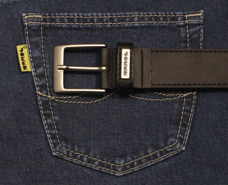 JOKER Jeans Leder GÜRTEL 812 Länge 85 bis 115 cm schwarz     | Nicht so teuer