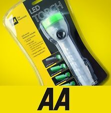 AA LED Torch Lamp 4 Way Light Flashing Handle Camp Flashlight with Clip #725570