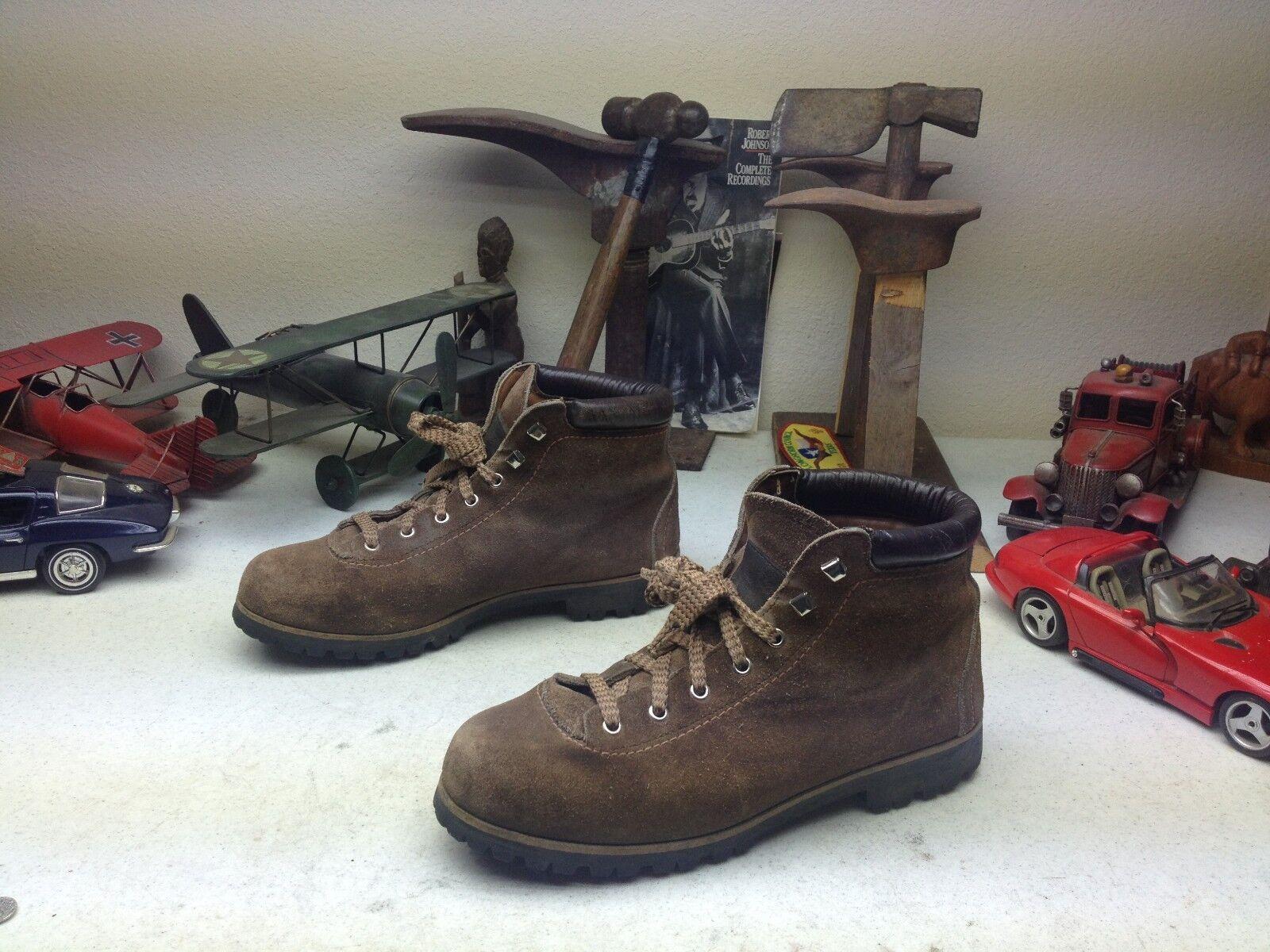 Vintage VASQUE marróns Cuero con Cordones ingeniero jefe alpinista Trail botas 8.5 N