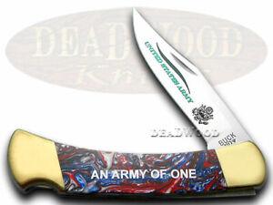 Buck 110 US Army Faltbar Hunter Messer Stern Glitzernd Banner Corelon 1/400