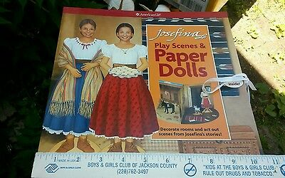 American Girl Josefina PLAY SCENES and PAPER DOLLS clothes furniture accessories