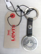 NEW LEVIS THUMBS UP BLACK LEATHER KEY FOB 77173-0765