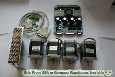 【Free shipping 】4Axis Nema 23 Stepper Motor 270oz-in,3A,2 phase, 6 Leads CNC kit