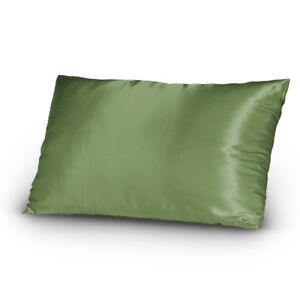 New-Lingerie-Satin-Pillowcase-Set-King-Size-Sage-Green