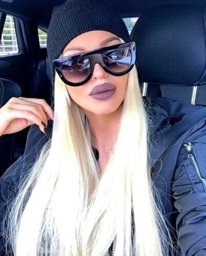 "Flat Top  /""ANDREA /"" Shadow Teardrop Women Sunglasses Aviator Square Shadz GAFAS"