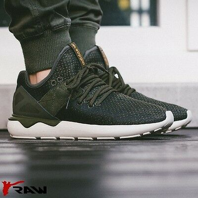 NUOVO Adidas Originals Runner Sneaker Uomo Tubular Cinturino Intreccio UK 10 10.5 Verde | eBay