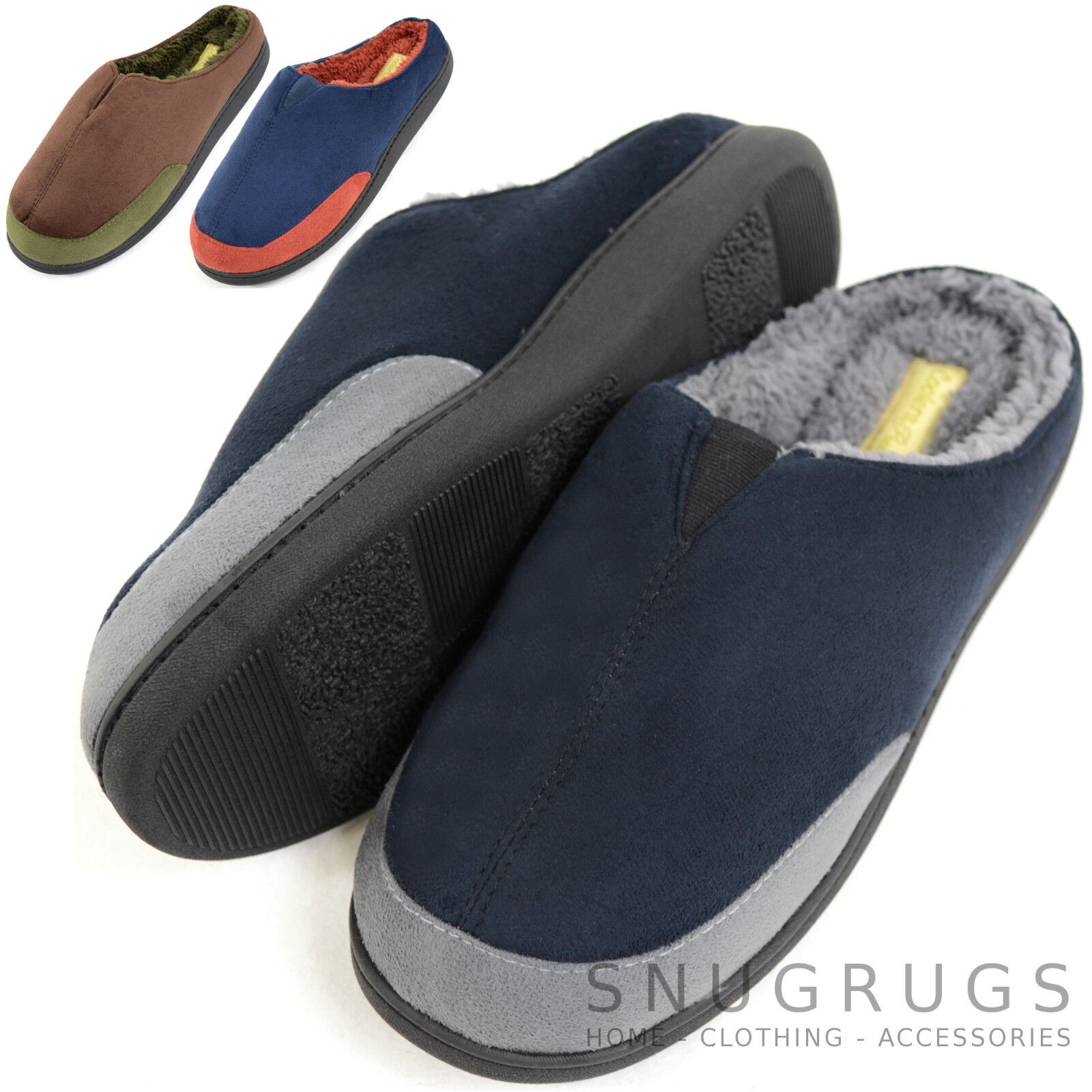 Hombre Microsuede Slip On Mules / Slippers with Lining Warm Micro Fleece Lining with d9ba7f