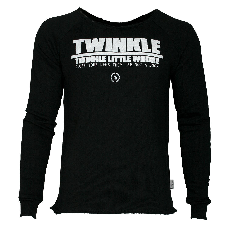 Boom Bap Sweatshirt TWINKLE schwarz - NEU