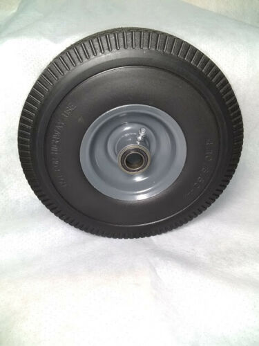 """Details about  /Wheel Solid Rubber Flat Free Tire 410x3.5-4 3//4/"""" ID shaft 3.25 Center Hub"""