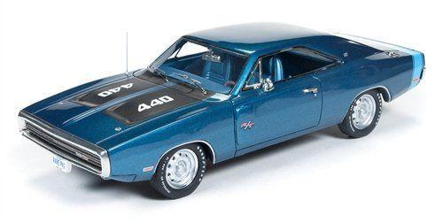 DODGE CHARGER 1970 1970 1970 Blu Metallizzato, Modello 1 43. AUTO RESINA Autoworld 18328a