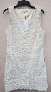 See-U-Soon-Women-039-s-Dress-Faux-Fur-With-Faux-Leather-Trim-Size-L