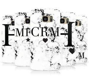 premium selection fe396 d197e Details about PERSONALISED WHITE MARBLE INITIAL MOBILE PHONE CASE FOR  SAMSUNG GALAXY S7 EDGE