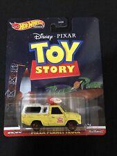 WH Die Cast Modellino Pizza Planet Truck da Toy Story Scala 1:64 6cm Hot Wheels Premium Real Riders