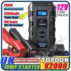 TOPDON-20800mAh-2000A-12V-Car-Jump-Starter-Power-Pack-Portable-Battery-Charger