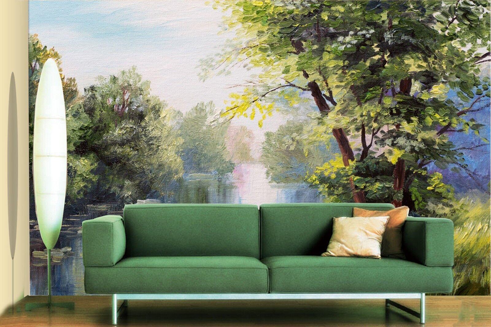 3D Ölgemälde Landschaft 870 Tapete Wandgemälde Tapeten Bild Familie DE Lemon