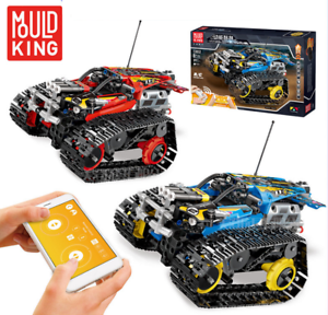 Bausteine-Verfolgen-Racing-Fernbedienung-Spielzeug-Geschenk-Modell-Kind