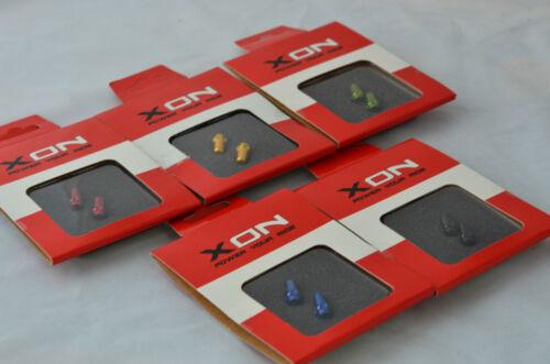 U.Z BIKE 2pcs Green XON CNC Presta Valve Cap-