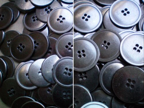 MB30-MB31 20mm 25mm Gunmetal Silver Grey Metal 4 Hole Industrial Jacket Buttons