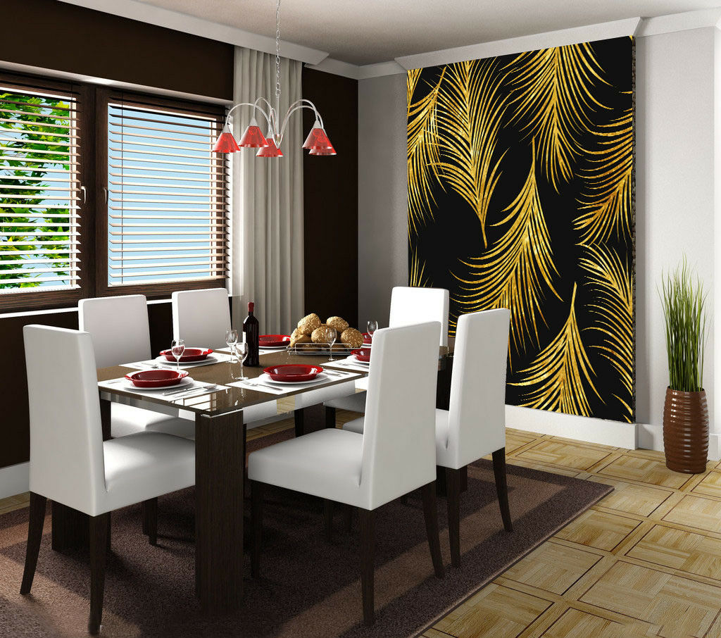 3D Golden Leaves 67  Wall Paper Wall Print Decal Wall Deco Indoor Mural Lemon