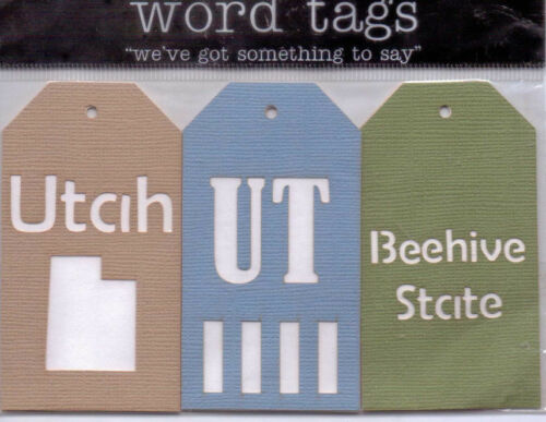 SD MT KS Deluxe Cuts STATE word tags~Several Varieties~AWESOME UT ND