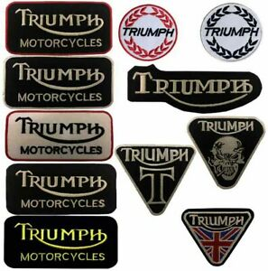 Triumph-motorbike-motorcycle-biker-embroidered-iron-on-patches-sew-on-badges