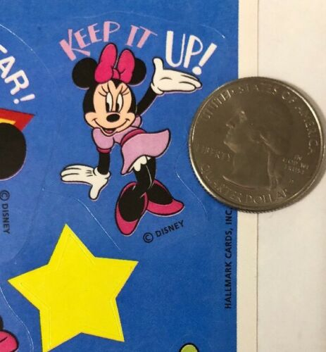 Disney•Minnie•Wow•Great Work•Super Job•Star MICKEY /& FRIEND PHRASE Sticker 12pc