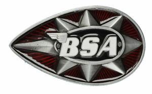 Kleidung & Accessoires Red & Black Starker Widerstand Gegen Hitze Und Starkes Tragen Modestil Bsa Classic Motorcycle 'teardrop' Belt Buckle Gürtelschnallen