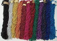 36 Choice Mardi Gras Beads Football Tailgate Party Necklaces 3 Dozen