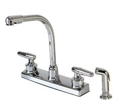 Hardware House 12-1927 2-handle Hi-rise Kitchen Faucet with Spray Chrome