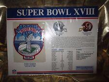LA Raiders- Washington Redskins Super Bowl XVIII 1984 NFL Jersey Large Patch NEW