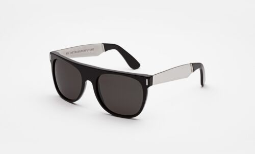 Super by Retrosuperfuture Flat Top Francis Silver Sunglasses Carl Zeiss Handmade