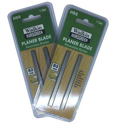 2 x 82mm HSS PLANER BLADES for Black /& Decker Bosch DeWalt Elu planers Pack Of 2