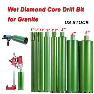 """Wet Diamond Core Drill Bits Reinforced concrete / cured concrete / asphalt 1""""-5"""""""