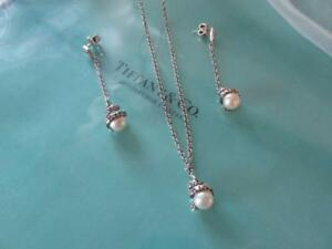 3bef0d0b6 Vintage Tiffany & Co. Iridesse Pearl Sterling Silver Toggle Necklace ...