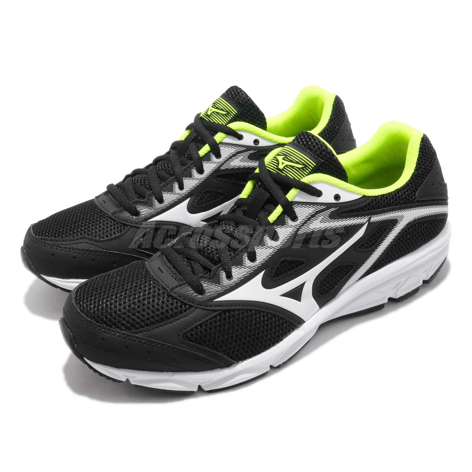 Mizuno Maximizer 21 Wide Black White Yellow Men Running shoes Sneaker K1GA1900-02