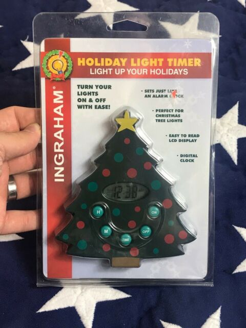 ingraham holiday light timer christmas tree alarm timer rare