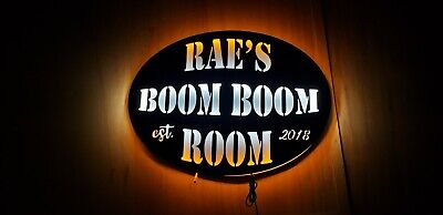 man cave Custom Personalized Boom Boom Sign Fast ship The Boom Boom Room