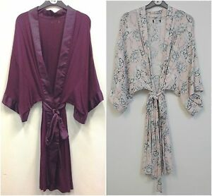 Ladies Jersey Kimono Dressing Gownrobe Uk Sizes 8 22 Ebay