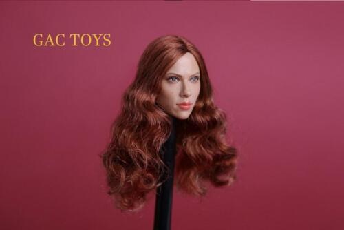 1//6 Scarlett Johansson Black Widow 7.0 Head Sculpt A For Hot Toys Phicen