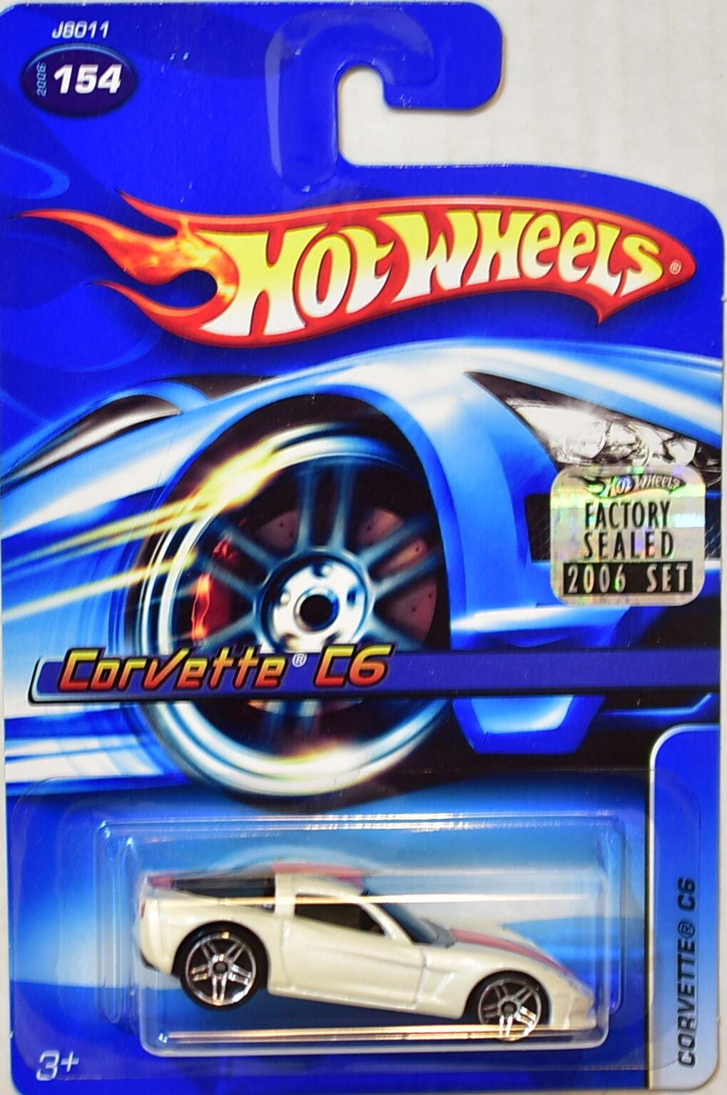 Hot Wheels 2006 Corvette C6  154 154 154 Blanco Precinto de Fábrica  a precios asequibles