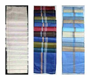 12-Pack-Homme-Mouchoirs-100-coton-Mouchoirs-Premium-Poche-Carre-Costume-Cadeau