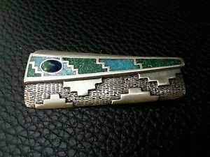 .925 STERLING SILVER PINS BROOCH CAROLYN POLLACKS RELIOS TURQUOISE
